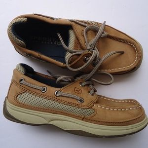 SIZE 13M.BOY'S LEATHER SPERRY TOP-SIDER BOAT SHOES